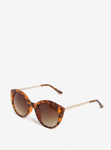 Hnedé vzorované slnečné okuliare Pieces Malisa - Glami.sk ab74ba51acb