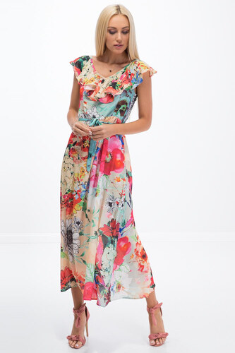 Amando Letné dlhé šaty s kvetmi 6406238179a