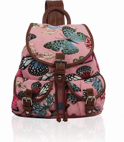 Miss LULU Batoh Retro Butterfly Dream - žlutý růžová - Glami.sk af458833a8