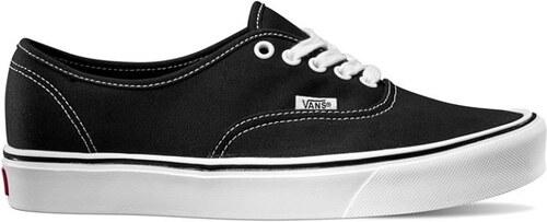 7c511631bea Boty Vans Authentic Lite + (Canvas) black white (černé) - V4OQ187 ...