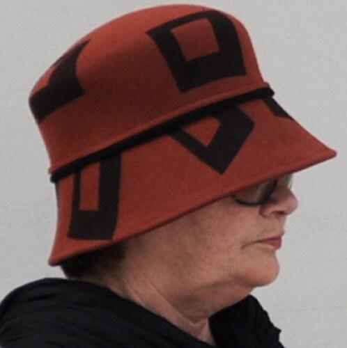 c9bdadd990e Hnědý luxusní dámský klobouk Tonak 87054