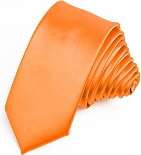 01d09e461fa Kravata oranžová slim fit Greg 99175 - Glami.cz