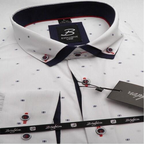 09ef97aa4860 Bílá pánská košile dlouhý rukáv s dvojitým límcem Brighton 109968 ...