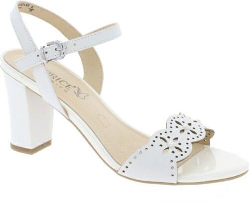 Caprice sandály na podpatku bílé 60febd64c9