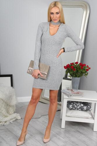 c961469cac62 Amando Elegantné sivé šaty - Glami.sk