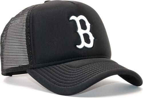 Dámská Kšiltovka New Era Essential A-Frame Trucker Boston Red Sox 9FORTY  Black White 890eb2c337