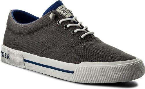 a0e8eda1045 Tenisky TOMMY HILFIGER - Heritage Textile Sneaker FM0FM01353 Steel Grey 039