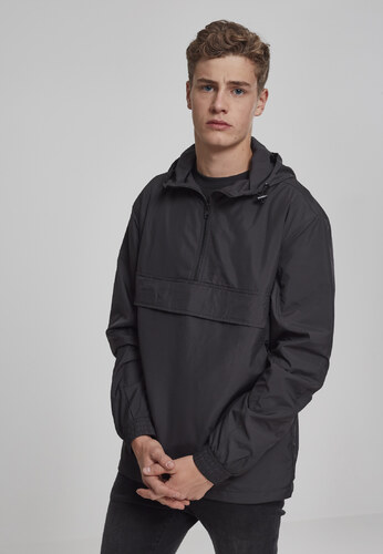 Pánska prechodná bunda URBAN CLASSICS Basic Pull Over Jacket black ... 0ea57f3a5e8