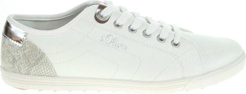 2d4986de399 s.Oliver dámská obuv 5-23631-20 white-silver 5-5-23631-20 193 - Glami.cz