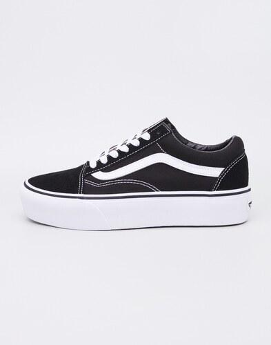 7466a142a1 Sneakers - tenisky Vans Old Skool Platform BLACK WHITE - Glami.cz