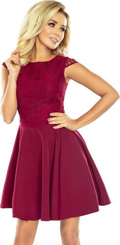 NUMOCO Dámske červené elegantné šaty s čipkou 157-3 - Glami.sk 0386906b5df