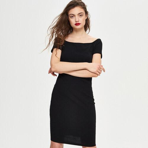 Sinsay - Šaty s rovným výstrihom - Čierna - Glami.sk 1da416afd65