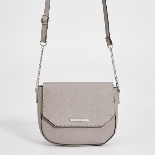Sinsay - Malá kabelka na retiazke - Svetlošedá f828cd95512