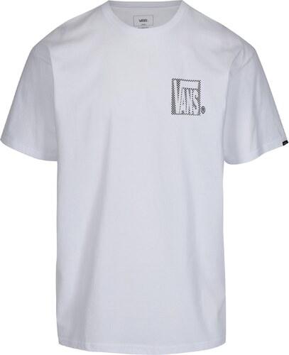 Bílé pánské tričko s potiskem VANS New Checker - Glami.cz f8db9f4a4c4