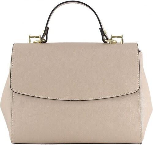 -10% Kožená luxusní ružová kufříková kabelka joane VERA PELLE 13201 546172cc41a