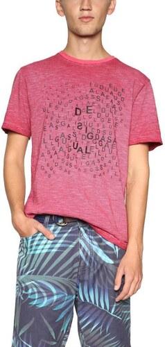 tričko Desigual Petit Caprice carmin - Glami.sk c2247d28e9c