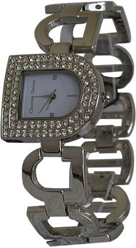 Dámske hodinky s kryštálmi Charles Delon 5128 - Glami.sk f4c604b6b65