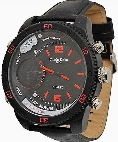 Pánské hodinky Charles Delon 5765 červené - Glami.cz 5153fcc536e