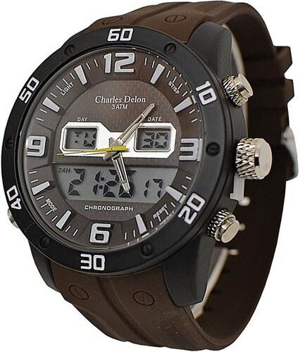 24e8e2067dd Pánské hodinky Charles Delon 5732 hnědé - Glami.cz
