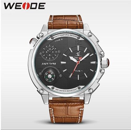3354b48e33a Pánské hodinky WEIDE 1507 stříbrné - černé - Glami.cz