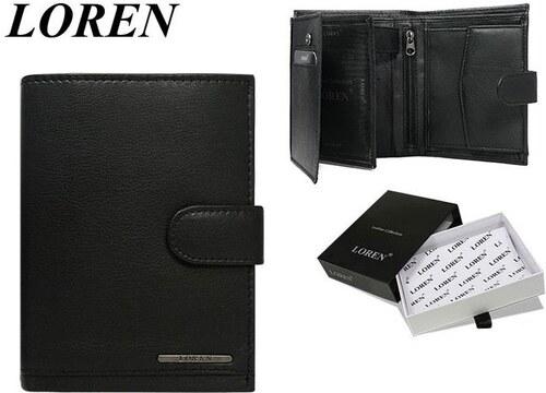 66a62eec0 Čierna kožená peňaženka LOREN s prackou - Glami.sk