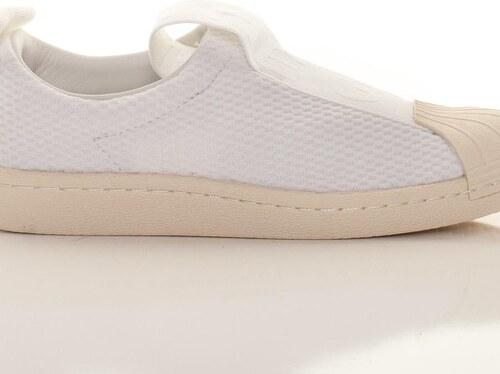 Adidas Originals Dámske biele textilné tenisky Superstar BW3S SlipOn ... ba38c548307