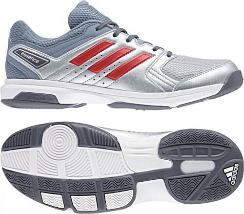 ec820911be9 Pánské sálové boty adidas Performance ESSENCE (Stříbrná   Červená   Šedá)