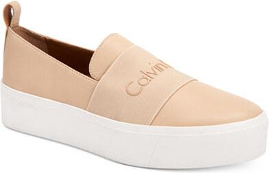 Tenisky calvin klein jacinta slip-on platform sneakers béžová 40 ... 7634d7c5ba
