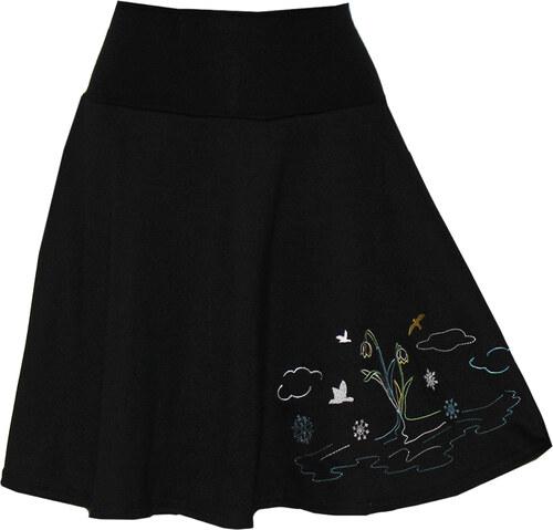 fffbdce0566 -25% Radka Kudrnová Černá sukně ke kolenům