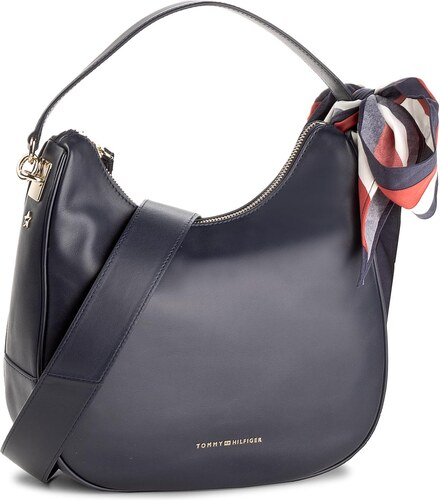 cc1a979520 Táska TOMMY HILFIGER - Iconic Foulard Leather Sm Hobo AW0AW04962 413 ...