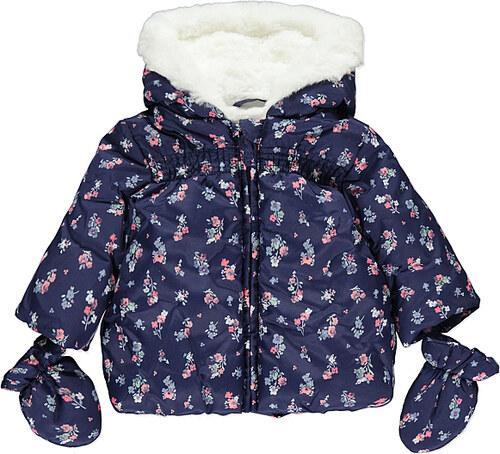 9aa09259e958 George Kojenecká bunda zimní modrá s květy