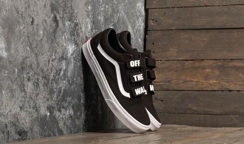 Vans Old Skool V (Off The Wall) Black  True White - Glami.cz 33ed73748e