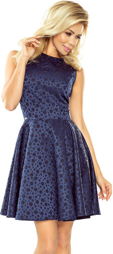 numoco Společenské a plesové exkluzivní šaty s kolovou sukní tmavě modré fd21d51ec43