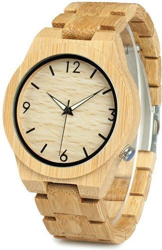Robolišák Pánské bambusové hodinky - Glami.cz 856f0c00c44