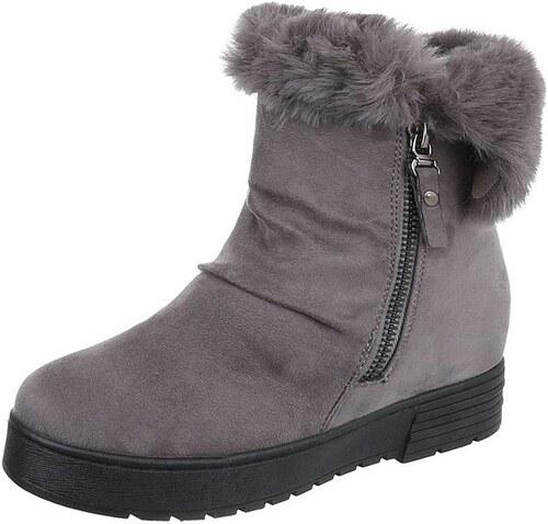 Dámské vysoké zimní boty s kožešinou - Glami.cz 5a86e6332e