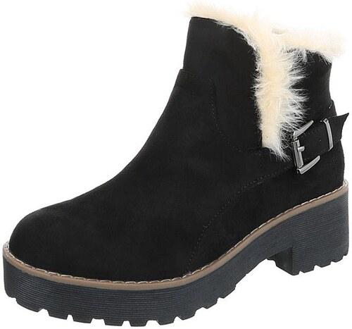 Dámske štýlové zimné topánky s kožušinou - Glami.sk be0893408b7