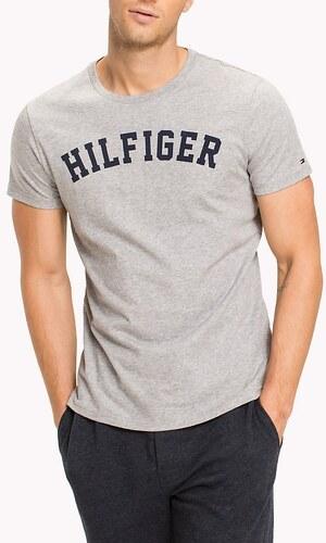 Tommy Hilfiger sivé pánske tričko SS Tee Logo - Glami.sk 701528f40e5