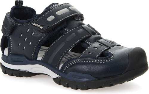 509b0e24e37c Geox Chlapčenské sandále Borealis - čierne - Glami.sk