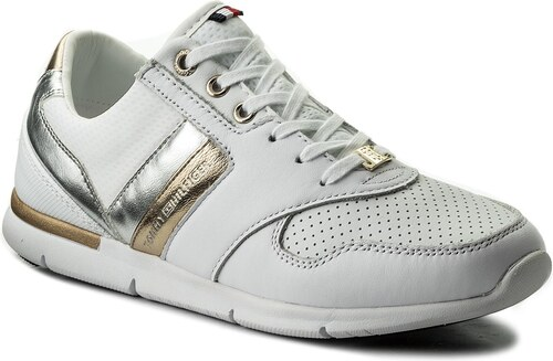 af816b476a96d Sneakersy TOMMY HILFIGER - Light Weight Leather Sneaker FW0FW02805 White 100