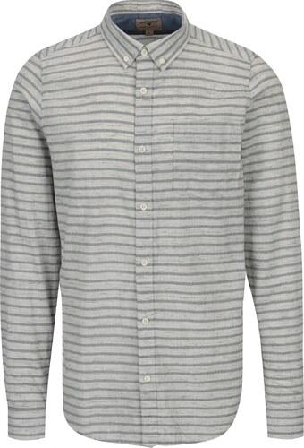 3b08b88bca2f Krémová pánska pruhovaná košeľa Garcia Jeans - Glami.sk