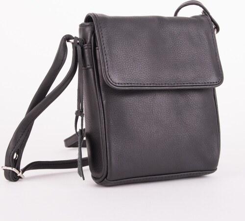 Černá dámská kožená kabelka přes rameno Zazliel - Glami.cz 8e3ad63170
