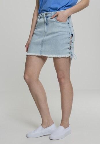 5ac36d48de92 -10% Dámska riflová sukňa URBAN CLASSICS Ladies Denim Lace Up Skirt blue