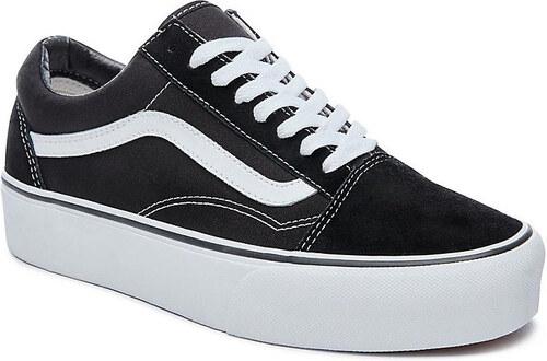 Vans Old Skool Platform black white - Glami.cz 45dd599658