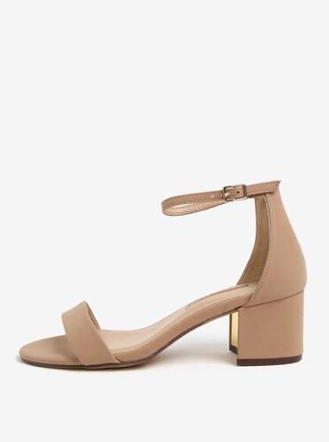 dcfb519f5 Béžové sandály na podpatku Dorothy Perkins - Glami.cz