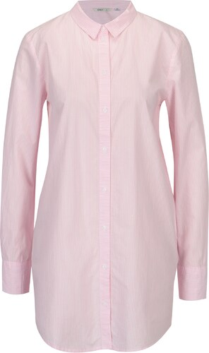 6257348f754d Bielo-ružová dlhá pruhovaná košeľa ONLY Sapelin - Glami.sk