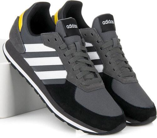 Pánske moderné šedé šnurovacie tenisky Adidas 8 K - Glami.sk ede11442e56