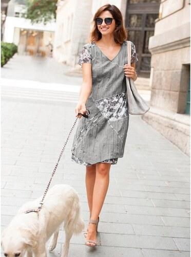 bee245ba5671 Blancheporte Originálne šaty s krátkymi rukávmi perlovosivá - Glami.sk
