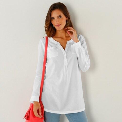 Blancheporte Jednobarevná tunika s tuniským výstřihem bílá - Glami.cz f4c8a480d8