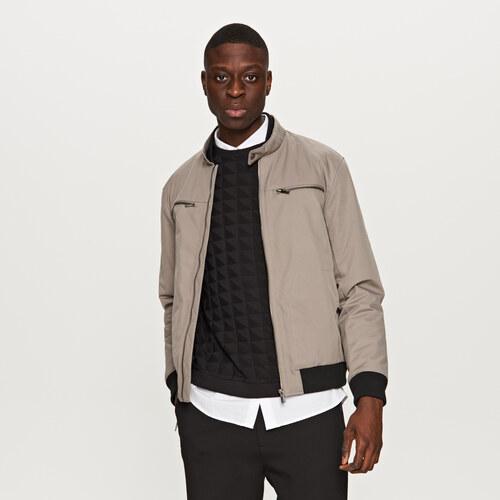 Reserved - Biker típusú bélelt kabát - Bézs - Glami.hu cf0a37a67d