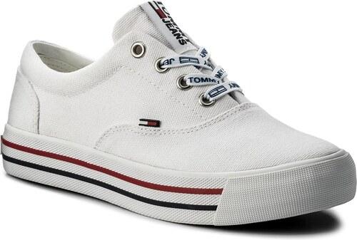 Tenisky TOMMY HILFIGER - JEANS Tommy Jeans Sneaker EN0EN00166 White ... 73d739a7cb
